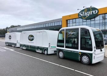 Sligro gaat met elektrisch treintje restaurants beleveren in Gent