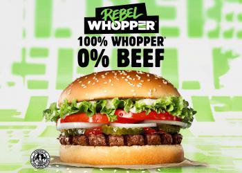 Burger King lanceert Rebel Whopper in samenwerking met De Vegetarische Slager